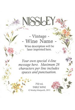 floral personalized label
