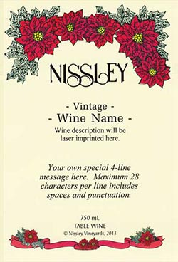 poinsetta personalized label