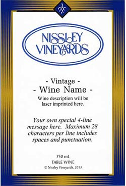 elegance blue personalized label