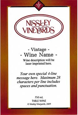 elegance red personalized label