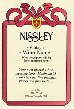 regal red personalized label