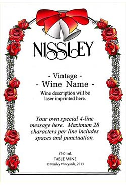 wedding arch personalized label