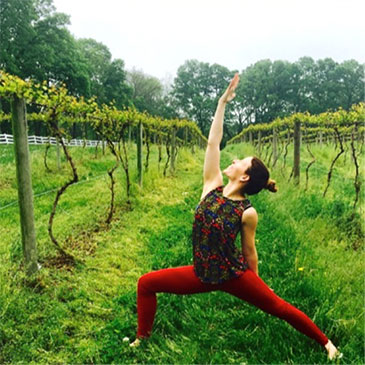 Yoga in the Vineyards will be held on Saturday, June 24, rain or shine.