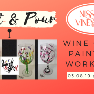Nissley Vineyards wine glass painting event