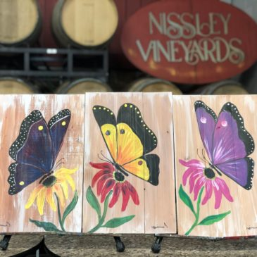 Paint and enjoy parties with wine