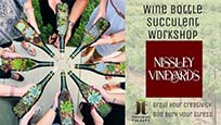 wine bottle succulent workshop event