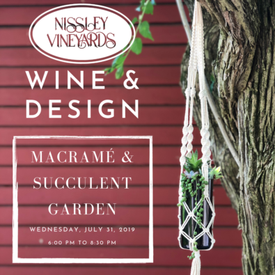 Macrame and succulent garden workshop