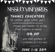 Teacher Appreciation Discount