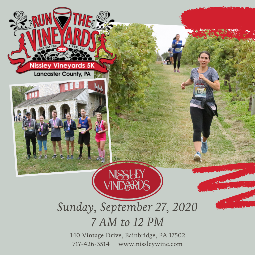 Run the Vineyards 5K September 27, 2020