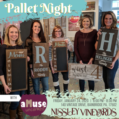 Pallet Night - Create your own 12x24 wood sign on January 24, 2020.