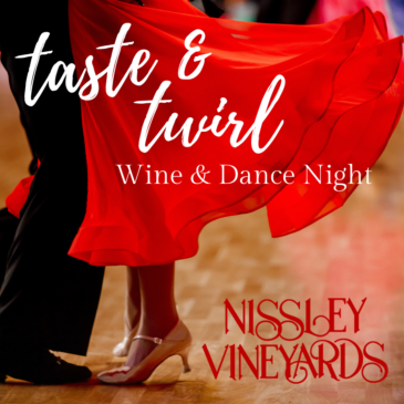 Taste and Twirl Dance Lessons at Nissley Vineyards Winery