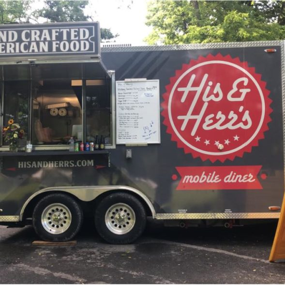 His and Herrs mobile diner American cuisine